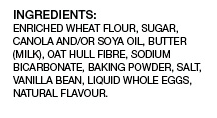 Preventia French Vanilla cookie ingredients list